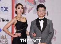 [TF포토] 한혜진-김성주, 'MBC 연기대상의 MC!'