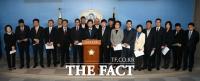 [TF포토] '바른미래당 창당파 8인, 바른미래당 탈당'