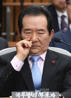 [TF포토] 고심하는 정세균 국무총리 후보자