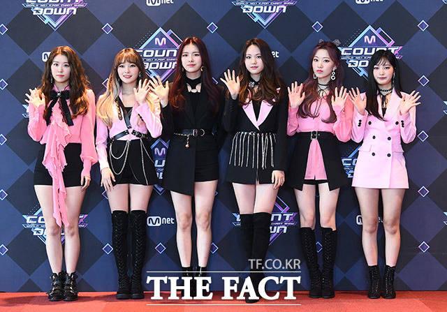 그룹 드림노트가 9일 오후 서울 마포구 CJ E&M센터에서 열린 Mnet 엠카운트다운 리허설 전 포토타임을 갖고 있다. /이동률 기자