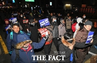 [TF포토] 검찰개혁 요구하며 행진하는 참가자들