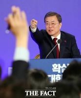 [TF사진관] '손들면 직접 지목'…각본 없는 대통령 신년 기자회견