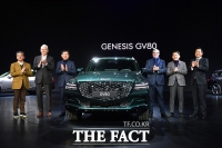 [TF포토] 베일벗은 제네시스 첫 SUV 'GV80'