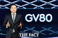 [TF포토] 제네시스 SUV 'GV80' 소개하는 이상엽 디자인센터장
