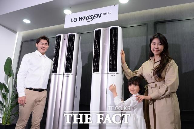 2020년형 LG 휘센 씽큐 에어컨은 냉방 면적을 기존 모델 대비 1평 더 넓혔다. /LG전자 제공