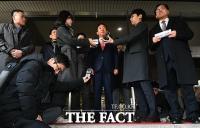 [TF포토] 취재진 앞에서 소감 밝히는 김성태 의원