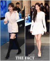 [TF포토] 유라-서현, '추운 겨울에 더욱 빛나는 화이트 패션'