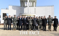 [TF포토] 설 맞아 해병대 제2사단 격려방문한 손학규 대표