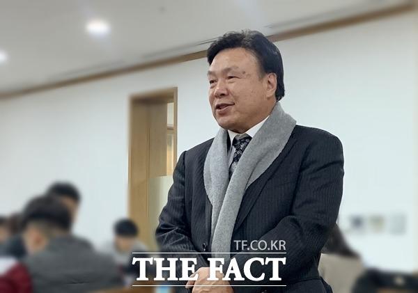 홍수환 한국권투위원회 회장이 21일 오후 3시 27분 빈소를 찾아 고인과의 인연에 대해 털어놨다. /서울아산병원=이민주 기자