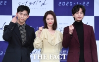 [TF포토] 옥택연-이연희-임주환, '드라마 더게임 기대하세요!'