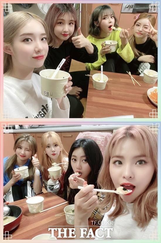 걸그룹 ANS 멤버들이 생애 첫 떡국 만들기에 도전했다./정병근 기자
