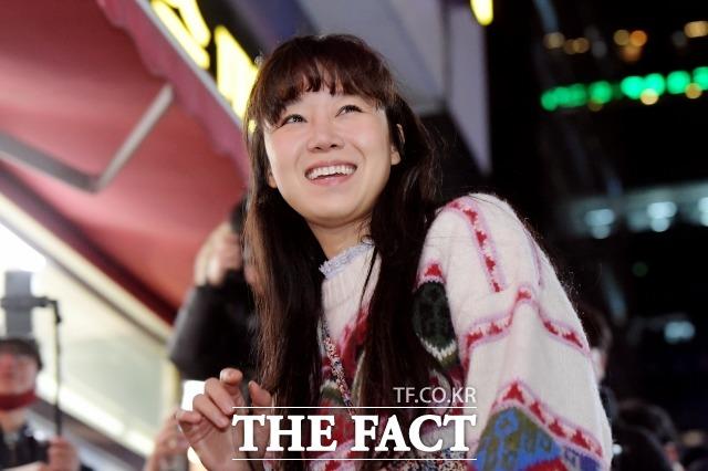 배우 공효진이 18일 오후 서울 영등포구 한 음식점에서 열린 KBS 수목드라마 동백꽃 필 무렵 종방연에 참석하고 있다. /이선화 기자