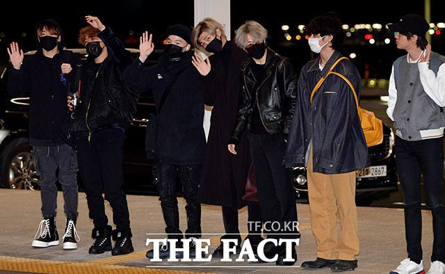 방탄소년단(BTS)이 그래미 어워즈에 2년 연속 참석했다. /인천국제공항=이덕인 기자