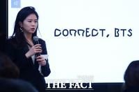 [TF포토] 'CONNECT, BTS' 서울 전시에 참가한 강이연 작가