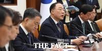 [TF포토] 모두 발언하는 홍남기 부총리