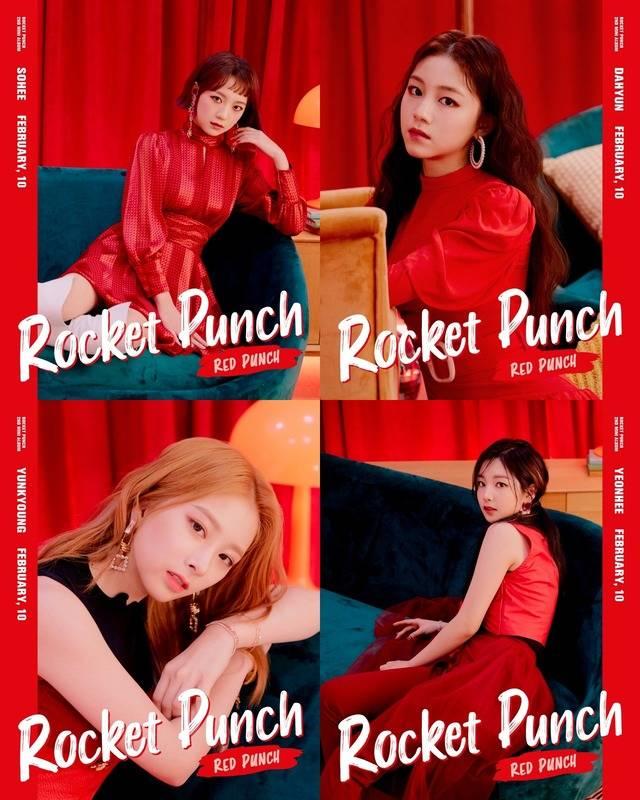 로켓펀치가 2월 8일 미니앨범 RED PUNCH를 발표한다. /울림엔터 제공