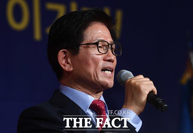 수락 연설 하는 김문수