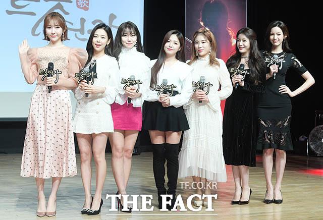 가수 하유비와 강예슬, 김희진, 정다경, 김소유, 박성연, 방송인 정가은