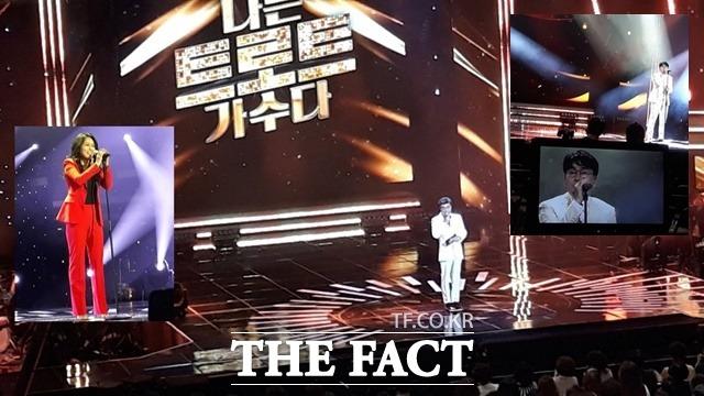 MBC 에브리원 트로트 나가수는 기성 가수들이 펼치는 서바이벌 프로그램이다. 매회 7명의 트로트 가수가 경연을 펼치고 500명의 청중평가단에게 심사를 받아 2회만에 한명씩 탈락되는 방식이다. /일산 MBC=강일홍 기자