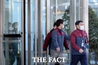 [TF포토] '본사 나서는 GS홈쇼핑 직원들'