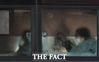 [TF포토] 성에 낀 버스창가