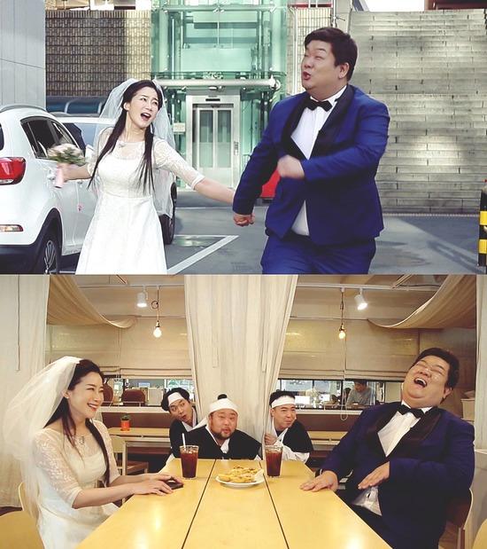 배우 김하영이 개그콘서트에서 개그맨 유민상과 찰떡 케미를 발산하며 주목받고 있다. /KBS 제공