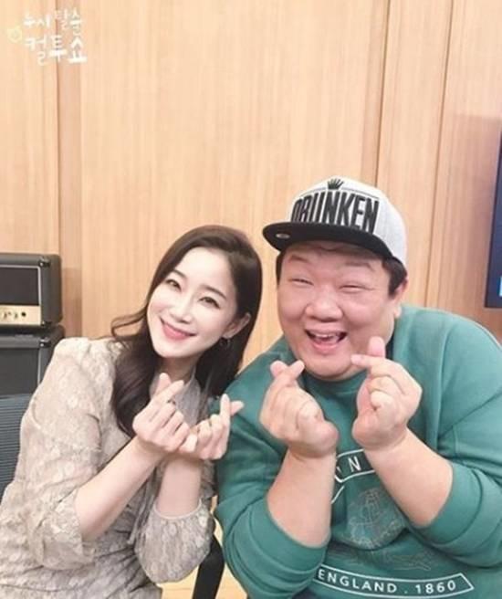 유민상과 김하영은 한때 열애설이 불거지기도 했지만 컬투쇼에 출연해 코너에서 재밌게 하려고 그런 거다. 그냥 설이다라고 해명했다. /SBS 컬투쇼 제공