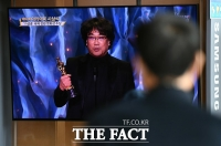 [TF포토] '기생충' 아카데미 2개 부문 수상 쾌거