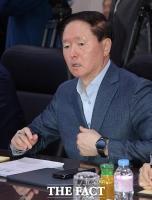 [TF포토] 항공사 CEO 간담회 참석한 우기홍 대한항공 사장