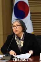 [TF포토] 이정희, '노동' 주제 토론회 참석