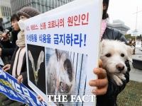 [TF포토] '야생동물 식용 금지하라'