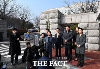 [TF포토] '당명 사용 불허' 중앙선관위 찾아 입장 밝히는 안철수