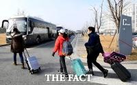 [TF포토] 진천 떠나는 우한 교민들