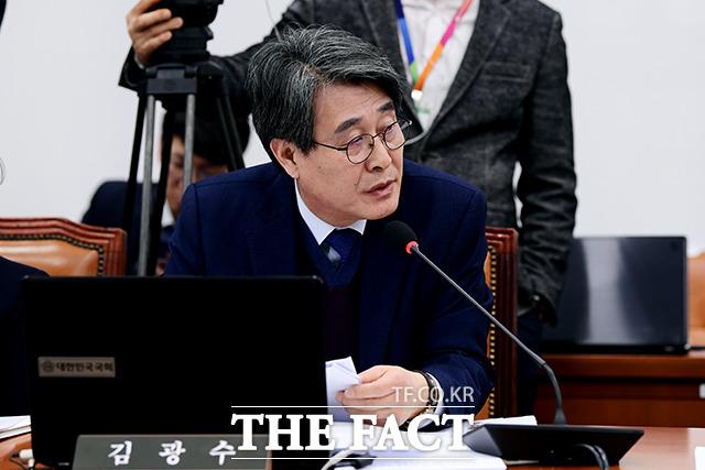 코로나 19 관련 질의하는 김광수 민주평화당 의원