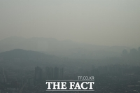 [TF포토] '도심 속 미세먼지 수묵화'