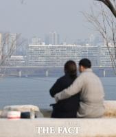 [TF포토] '미세먼지도 막지 못한 사랑의 힘'