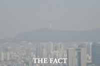 [TF포토] '미세먼지에 갇힌 서울타워'