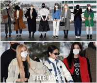 [TF사진관] '이젠 봄인가?'…알록달록 걸그룹의 출국길