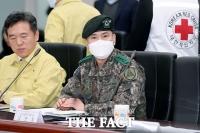[TF포토] 마스크 쓴 김선호 수도방위사령관
