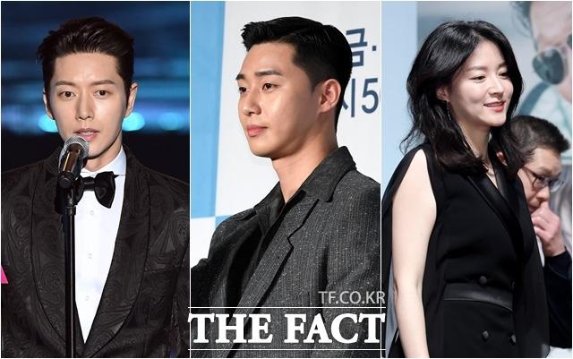 배우 박해진, 박서준, 이영애(왼쪽부터)는 코로나19 확산 방지를 위해 기부금을 보탰다. /더팩트DB