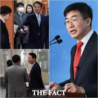 [TF사진관] '공관위원들 안 왔어요?'···회견 참석 안한 한선교 대표
