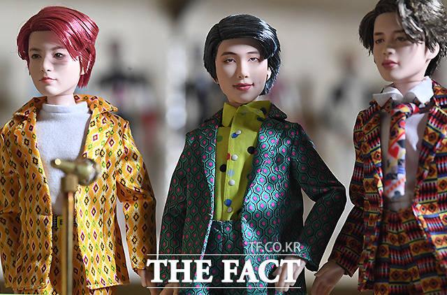 뷔 외에도 정국, RM, 지민(왼쪽부터)이 BTS 인형 중 가장 인기가 많다.