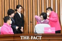 [TF포토] 미래통합당 입은 안철수계 신용현-김수민-김삼화 의원