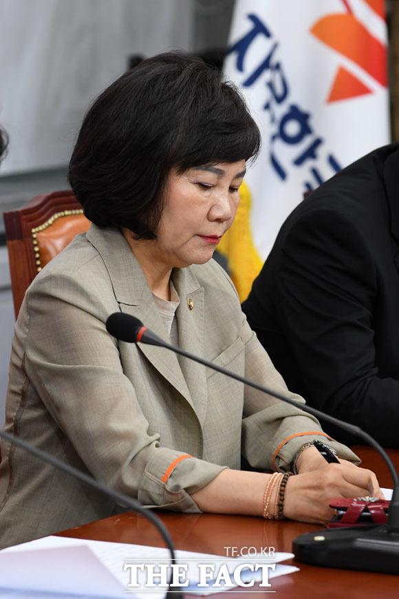 5·18 망언 논란을 일으켰던 김순례 통합당 의원은 공천 심사에서 컷오프된 것에 반발해 공개적으로 공관위에 대한 비판을 쏟아냈다. /남윤호 기자