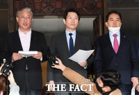 [TF포토] 선거구 획정안 관련 발언하는 여야 3당 원내대표