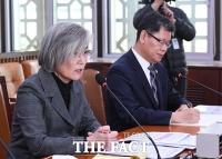 [TF포토] 외통위 전체회의 참석한 강경화 장관과 김연철 장관