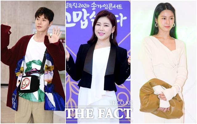 배우 박해진, 가수 송가인, 그룹 AOA 설현(왼쪽부터)은 재능기부로 코로나19 확산 방지에 도움을 줬다. /더팩트DB