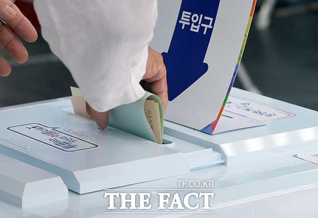 2018년 6.13 지방선거 투표일 당일 오전 서울 서대문구 남가좌2동 제2투표소 모습. /더팩트 DB.