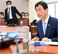 [TF사진관] 면 마스크 찬 성윤모-진영, '솔선수범하는 장관들'