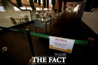 [TF포토] 불 꺼진 김포국제공항 음식점